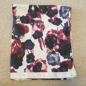 Flawless inky floral vinyasa scarf